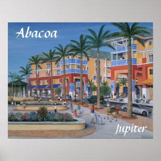 Centro de ciudad de Abacoa Júpiter Póster