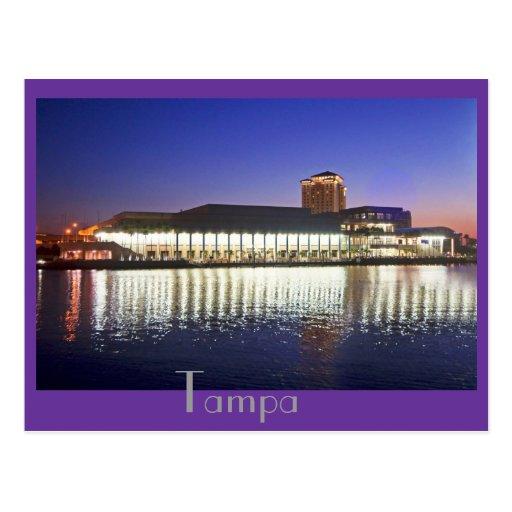 Centro de convenio de Tampa en el amanecer Postal