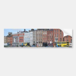 Centro de Dublín en el Liffey Pegatina Para Coche