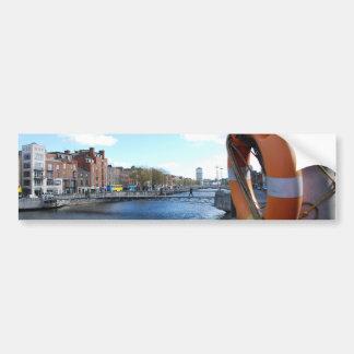 Centro de Dublín, Irlanda - río de Liffey Pegatina Para Coche