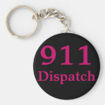 Centro de envío 911 llavero redondo tipo pin