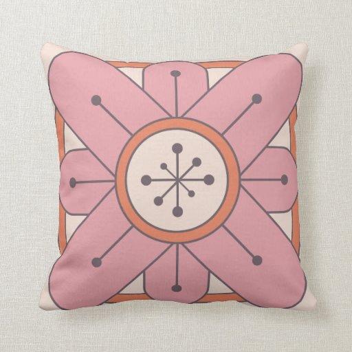 Centro de explosión de la estrella - flor rosada d almohada