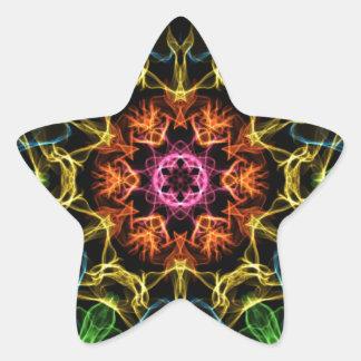 Centro de extensión pegatina forma de estrella personalizada