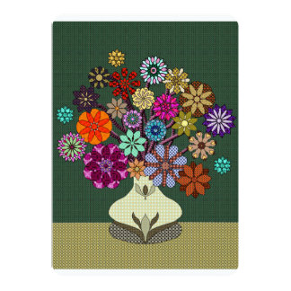 """Centro de flores brillante hermoso del remiendo invitación 5"""" x 7"""""""