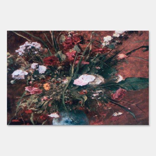 Centro de flores romántico del vintage