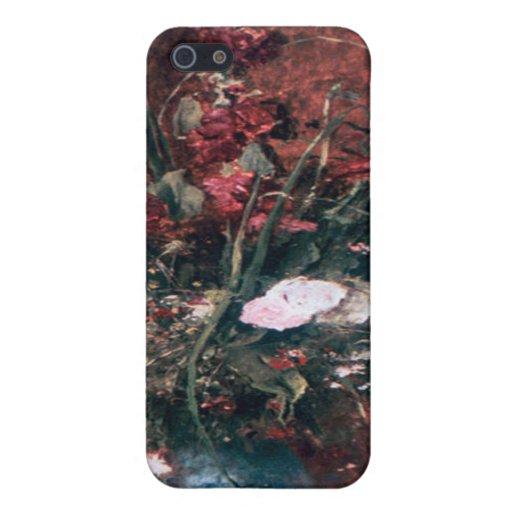 Centro de flores romántico del vintage iPhone 5 funda