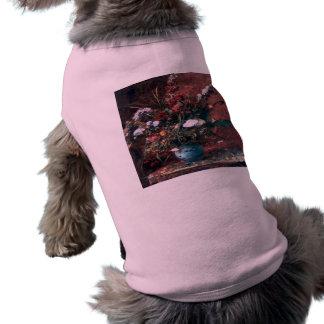 Centro de flores romántico del vintage camisetas de mascota