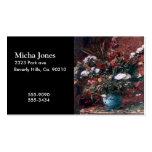Centro de flores romántico del vintage plantillas de tarjeta de negocio