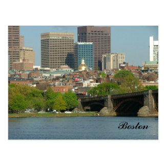 Centro de la ciudad de Boston y del río Charles Postal
