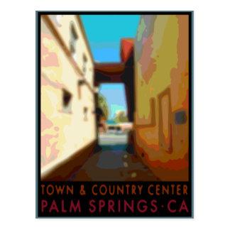 Centro de la ciudad y del país del Palm Springs Tarjeta Postal