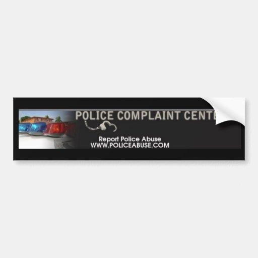 CENTRO DE LA DENUNCIA DE LA POLICÍA PEGATINA DE PARACHOQUE