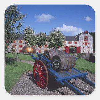 Centro de la herencia del whisky de Jamesons, Pegatina Cuadrada