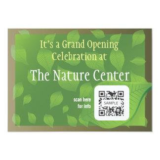 """Centro de la naturaleza de la plantilla de la invitación 5"""" x 7"""""""