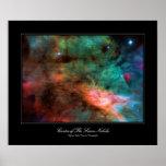 Centro de la nebulosa del cisne poster