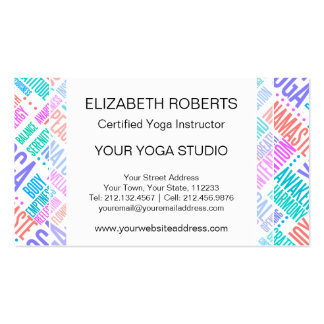 Centro de la yoga club de la yoga estudio de la plantilla de tarjeta de visita