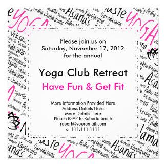 Centro de la yoga club de la yoga para los miemb comunicados personalizados