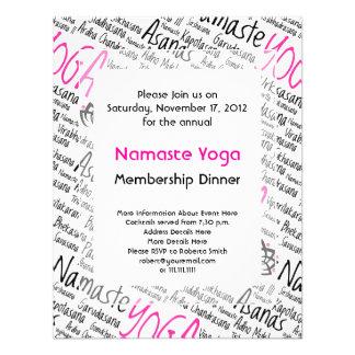 Centro de la yoga club de la yoga para los miemb invitacion personalizada