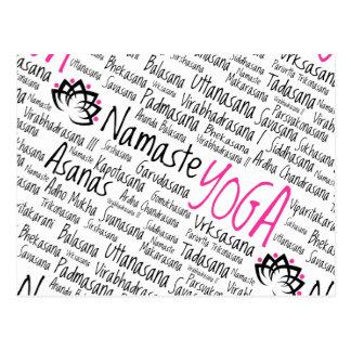 Centro de la yoga, club de la yoga, para los postales