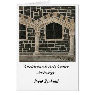 Centro de los artes de Christchurch - arcadas Tarjeta De Felicitación