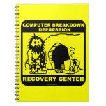 Centro de recuperación de la depresión de la libro de apuntes