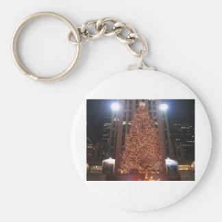 Centro de Rockefeller del árbol de navidad Llaveros