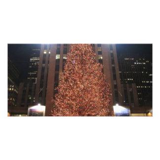Centro de Rockefeller del árbol de navidad Tarjeta Fotografica Personalizada