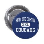 Centro de rubíes Houston de los pumas de Sue Clift Pins