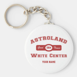 Centro del blanco de Astroland Llavero Redondo Tipo Pin