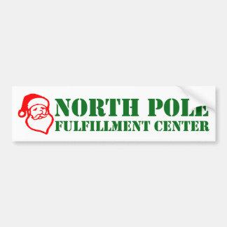 Centro del cumplimiento de Polo Norte Etiqueta De Parachoque