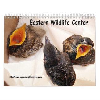 Centro del este de la fauna calendario