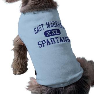 Centro del este Staten Island de Markham Spartans Camisetas Mascota