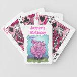 Centro del fiesta del cerdo baraja cartas de poker