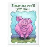 Centro del fiesta del cerdo invitación 12,7 x 17,8 cm