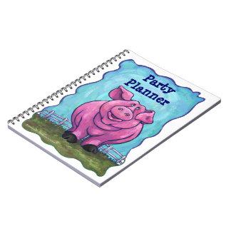 Centro del fiesta del cerdo cuaderno