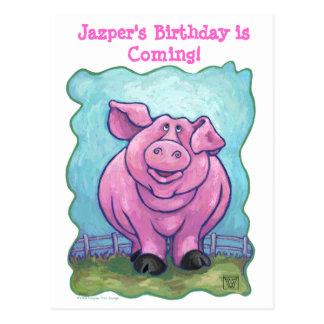 Centro del fiesta del cerdo tarjeta postal