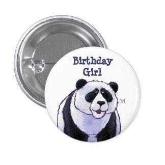 Centro del fiesta del oso de panda pin redondo de 1 pulgada