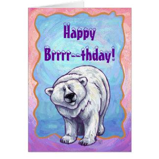 Centro del fiesta del oso polar tarjeta de felicitación