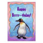 Centro del fiesta del pingüino tarjeta