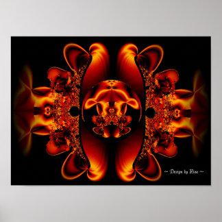 Centro del fractal de la bestia póster