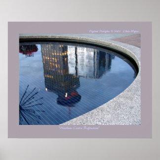 Centro del puerto reflejado póster