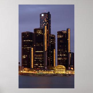 Centro del renacimiento de Detroit en la oscuridad Impresiones