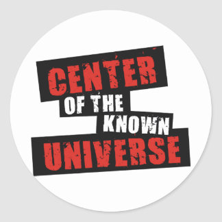 Centro del universo sabido pegatina redonda