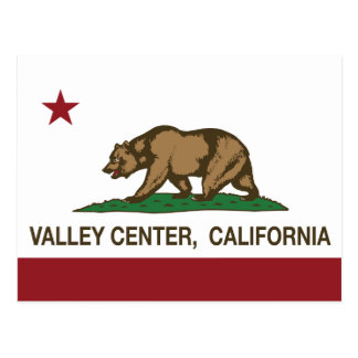 Centro del valle de la bandera de la república de postales