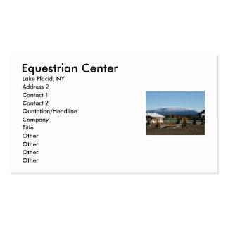 Centro ecuestre, Lake Placid, NY, A… Plantilla De Tarjeta De Negocio