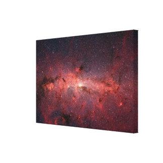 Centro galáctico de la vía láctea, estrellas, nube impresiones en lona