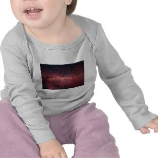 Centro galáctico de la vía láctea, estrellas, camisetas