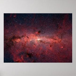 Centro galáctico de la vía láctea poster