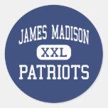 Centro Madisonville de los patriotas de James Madi Pegatina