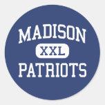 Centro Marshall de los patriotas de Madison Pegatina Redonda