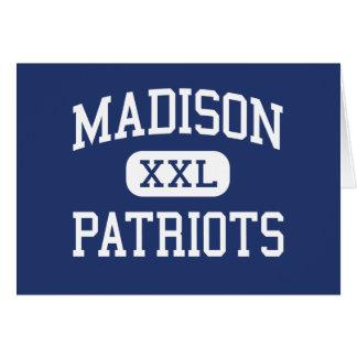 Centro Marshall de los patriotas de Madison Felicitacion